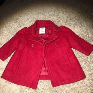 Red toddler coat